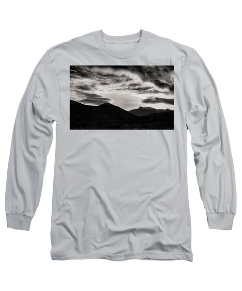Long Sleeve T-Shirt featuring the photograph Black And White Sunrise by Joseph Hollingsworth