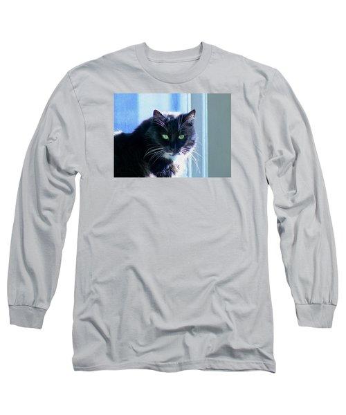 Black Cat In Sun Long Sleeve T-Shirt
