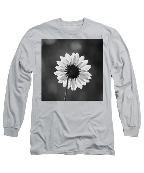 Black-eyed Susan - Black And White Long Sleeve T-Shirt