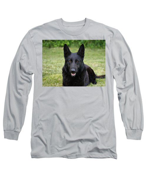 Black German Shepherd Dog II Long Sleeve T-Shirt