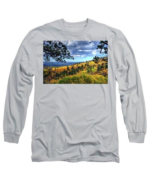 Black Hills Autumn Long Sleeve T-Shirt by Fiskr Larsen