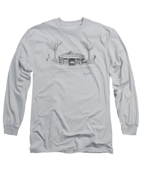 black lines on transparent background 10.28.Islands-8 Long Sleeve T-Shirt