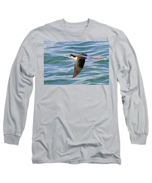Black-necked Stilt 6 Long Sleeve T-Shirt