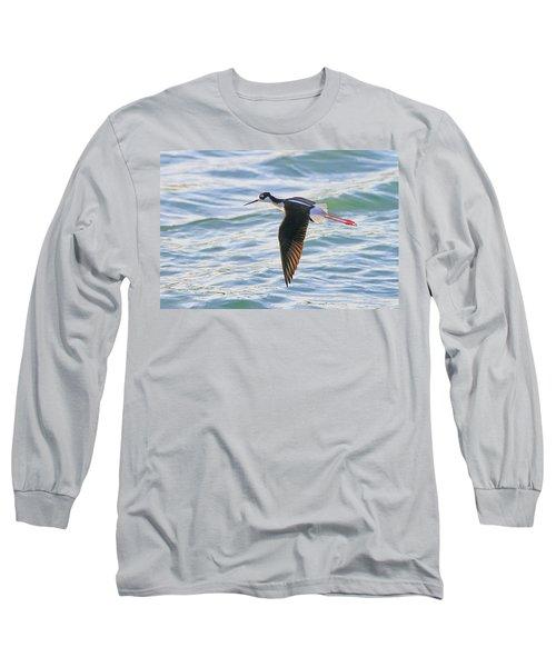 Black-necked Stilt 8 Long Sleeve T-Shirt