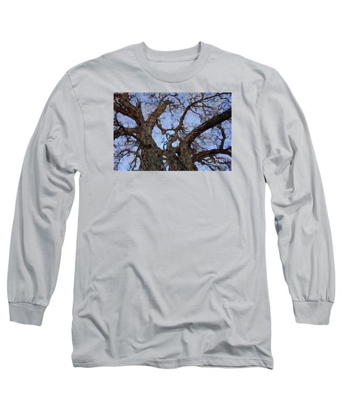 Long Sleeve T-Shirt featuring the painting Black Oaks by Mark Greenberg
