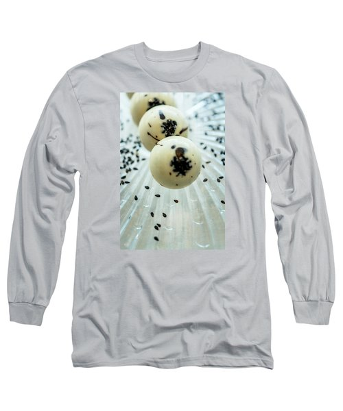 Long Sleeve T-Shirt featuring the photograph Black Sesame Chocolate by Sabine Edrissi