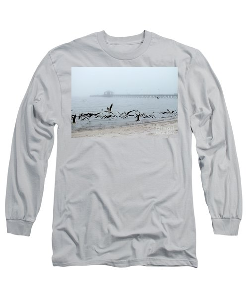 Black Skimmers - Biloxi Mississippi Long Sleeve T-Shirt by Scott Cameron