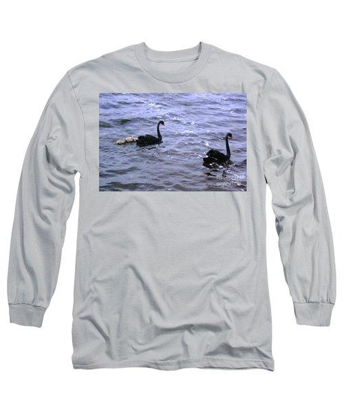 Black Swan Family Long Sleeve T-Shirt by Cassandra Buckley
