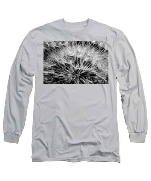 Black Widow Dandelion Long Sleeve T-Shirt by Iris Greenwell