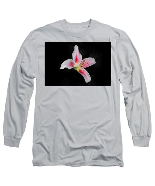 Blossom On Black Long Sleeve T-Shirt