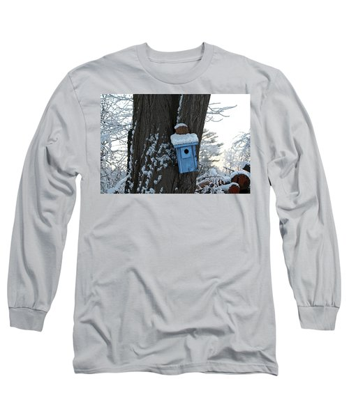 Blue Birdhouse Long Sleeve T-Shirt