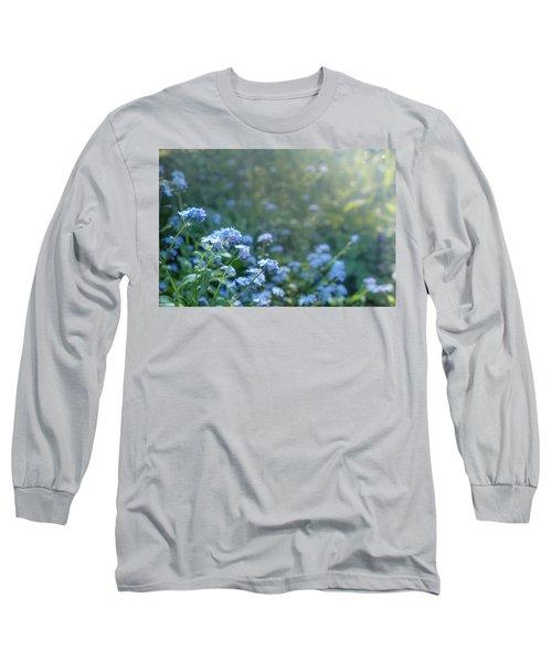 Blue Blooms Long Sleeve T-Shirt