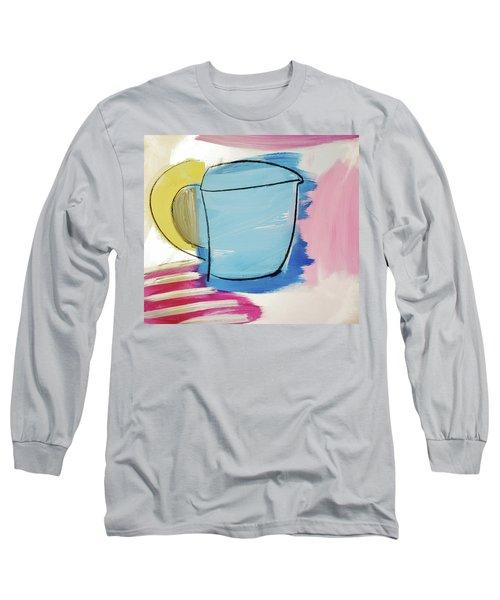 Blue Coffee Mug Long Sleeve T-Shirt by Amara Dacer