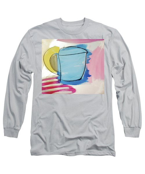 Blue Coffee Mug Long Sleeve T-Shirt