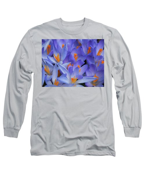 Blue Crocuses Long Sleeve T-Shirt