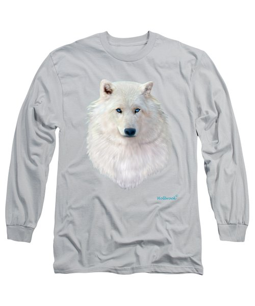 Blue-eyed Snow Wolf Long Sleeve T-Shirt