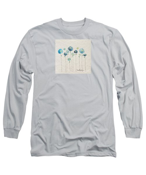 Blue Floral Long Sleeve T-Shirt