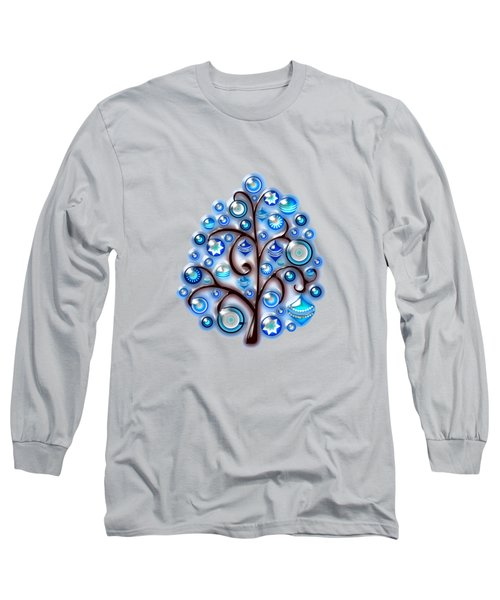 Blue Glass Ornaments Long Sleeve T-Shirt