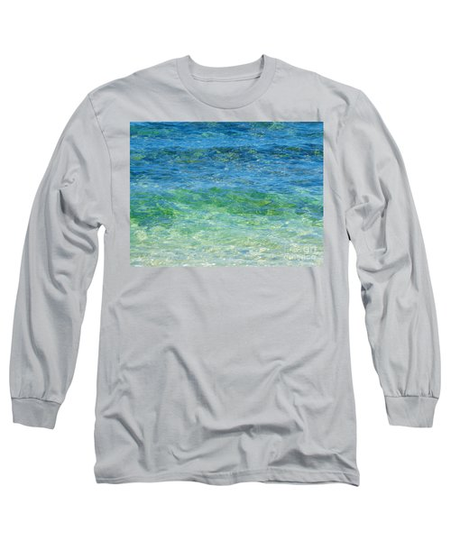 Blue Green Waves Long Sleeve T-Shirt