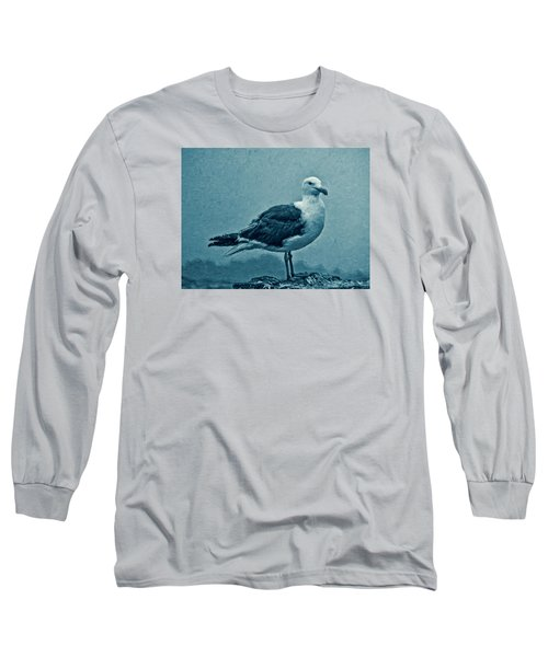 Blue Gull Long Sleeve T-Shirt by Douglas MooreZart