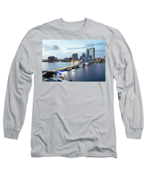 Blue Hour In Jacksonville Long Sleeve T-Shirt