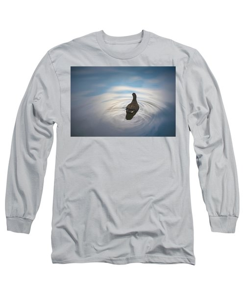Blue Light Moorhen Long Sleeve T-Shirt