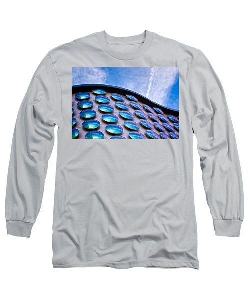 Blue Polka-dot Wave Long Sleeve T-Shirt