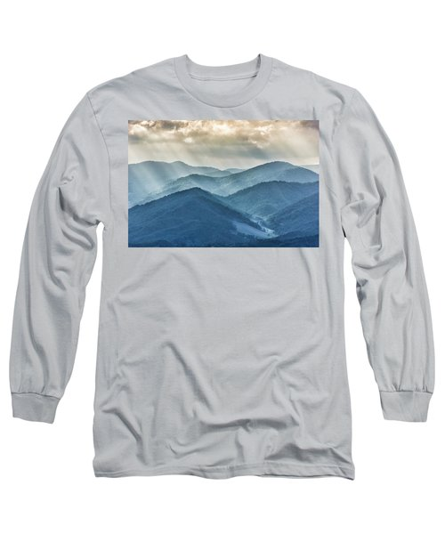 Blue Ridge Sunset Rays Long Sleeve T-Shirt