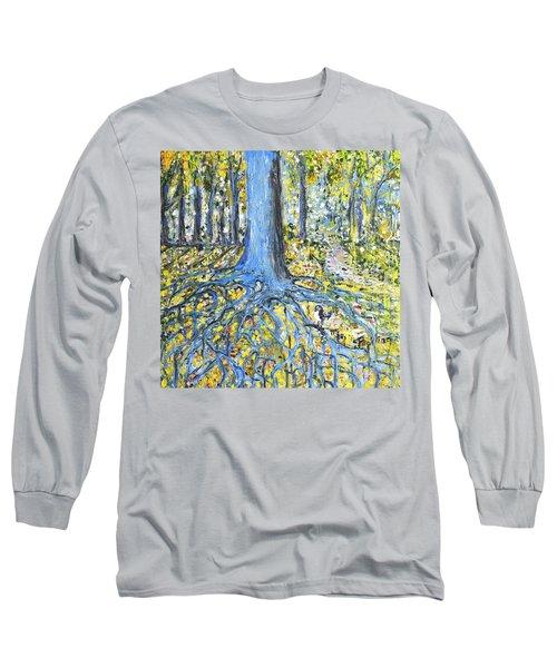 Blue Roots Long Sleeve T-Shirt by Evelina Popilian