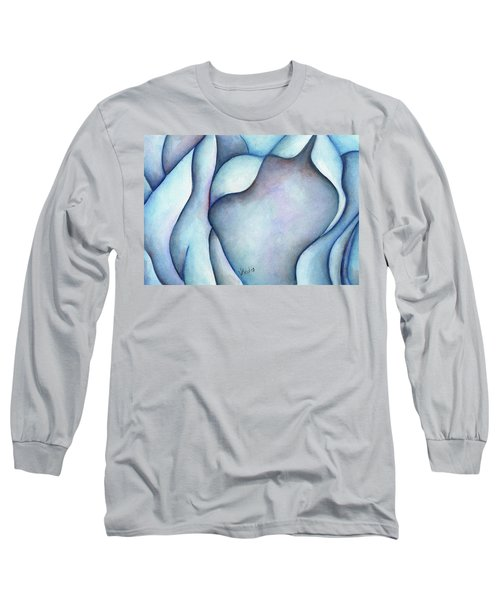 Blue Rose Long Sleeve T-Shirt by Versel Reid