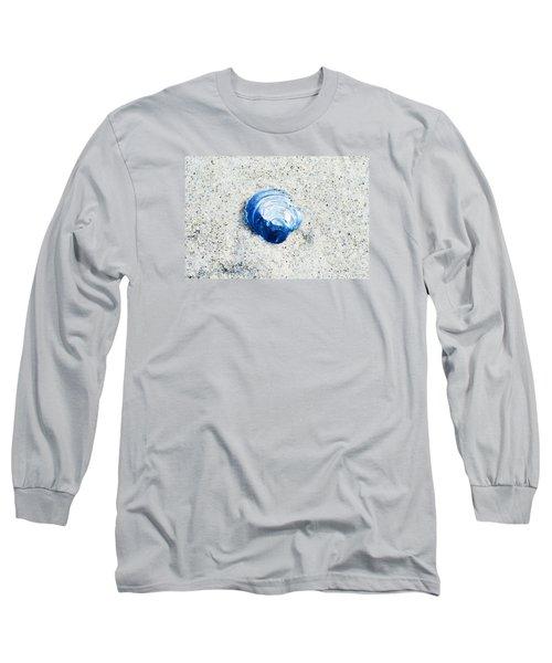 Blue Seashell By Sharon Cummings Long Sleeve T-Shirt