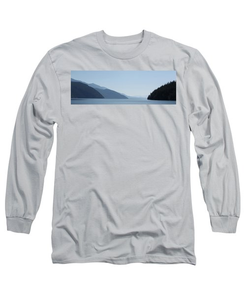 Blue Summer Long Sleeve T-Shirt by Cathie Douglas