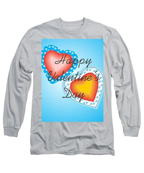 Blue Valentine Lace  Long Sleeve T-Shirt by Sherril Porter