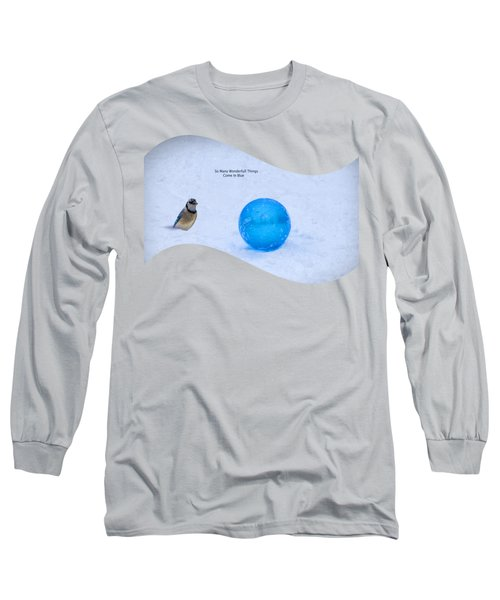 Blue Winter Long Sleeve T-Shirt by Linda Troski