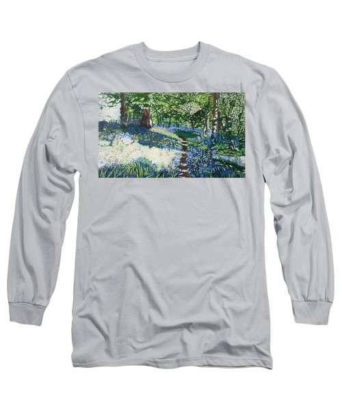 Bluebell Forest Long Sleeve T-Shirt by Joanne Perkins