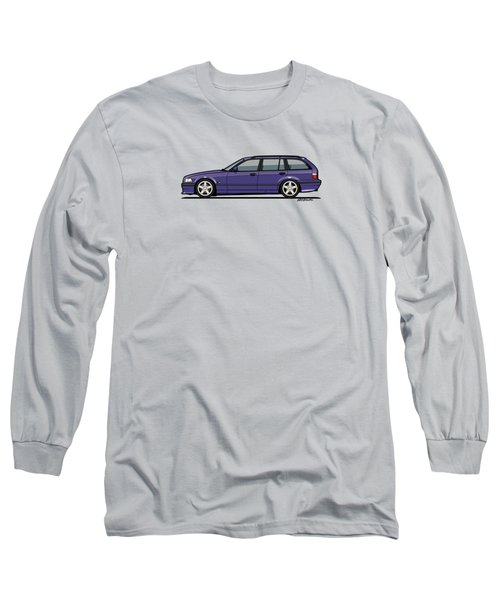 Bmw E36 328i 3-series Touring Wagon Techno Violet Long Sleeve T-Shirt