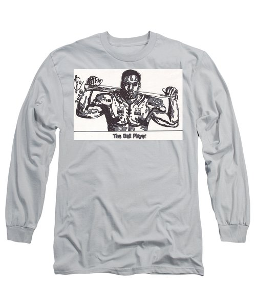 Bo Jackson The Ball Player Long Sleeve T-Shirt by Jeremiah Colley