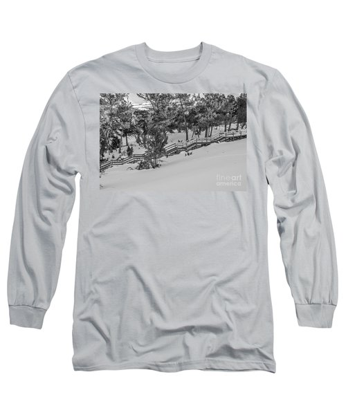 Long Sleeve T-Shirt featuring the photograph Boardwalk Climbing A Hill by Sue Smith