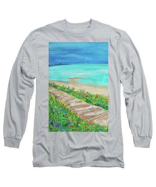 Boardwalk In Carmel Long Sleeve T-Shirt