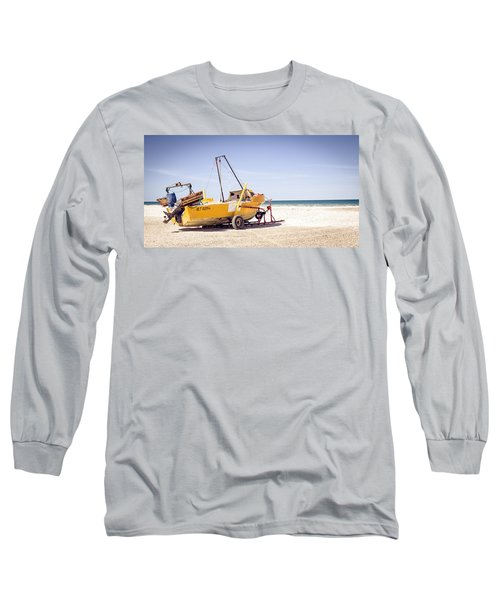 Long Sleeve T-Shirt featuring the photograph Boat And The Beach by Silvia Bruno