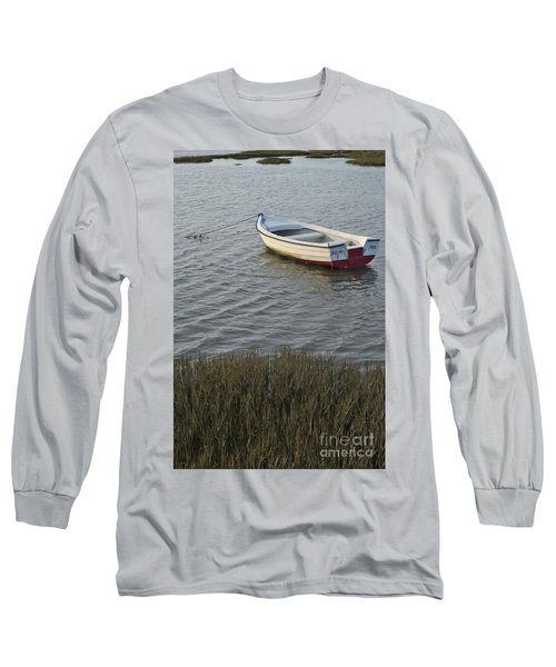 Boat In Ria Formosa - Faro Long Sleeve T-Shirt
