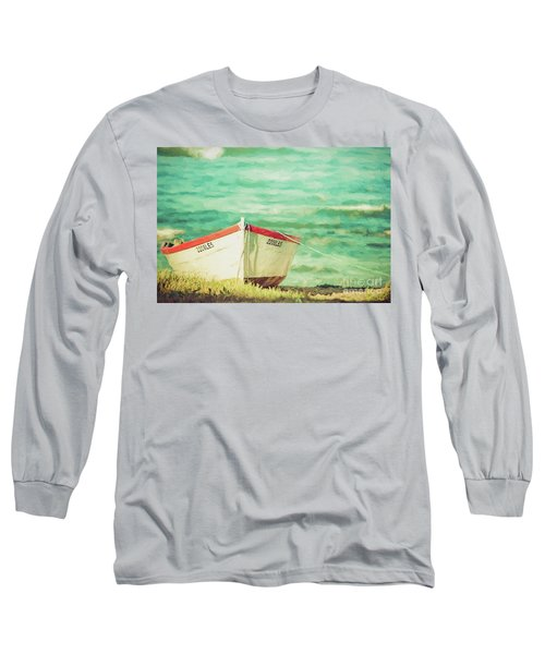 Boat On The Shore Long Sleeve T-Shirt