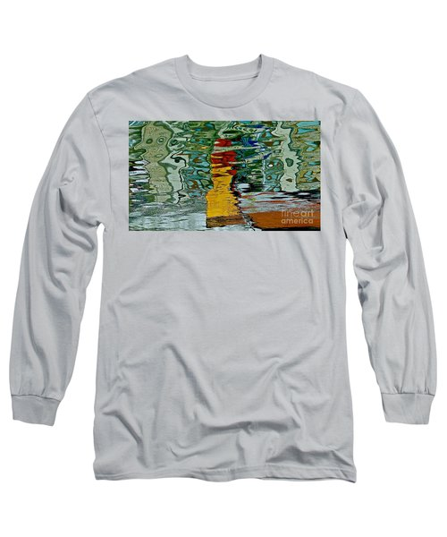 Boats In A Reflection Long Sleeve T-Shirt