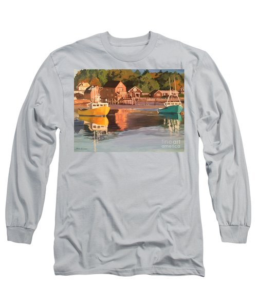 Boats In Kennebunkport Harbor Long Sleeve T-Shirt