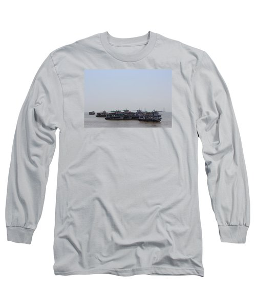 Boats On The Indian Ocean In The Haze Long Sleeve T-Shirt by Jennifer Mazzucco