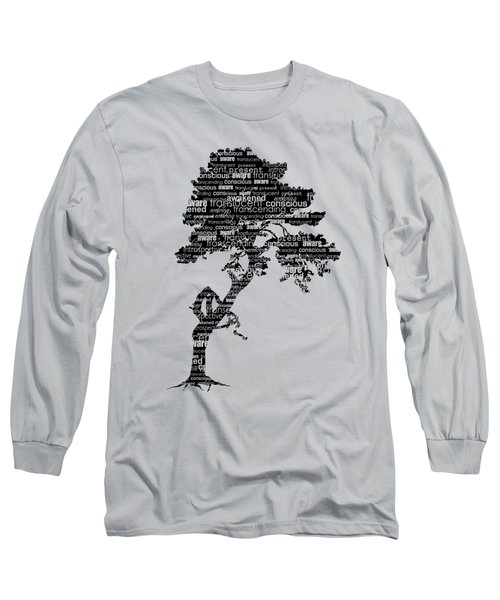 Bodhi Tree Of Awareness Long Sleeve T-Shirt by Tammy Wetzel
