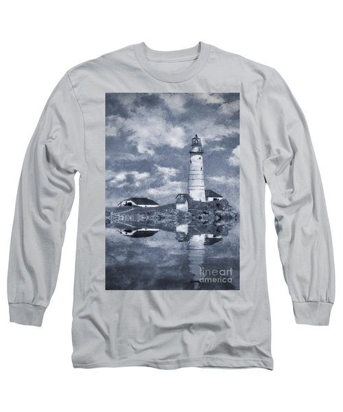 Long Sleeve T-Shirt featuring the photograph Boston Light  by Ian Mitchell