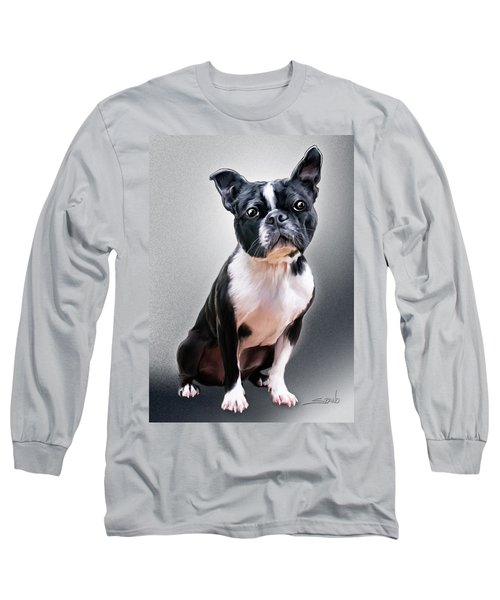 Boston Terrier By Spano Long Sleeve T-Shirt by Michael Spano