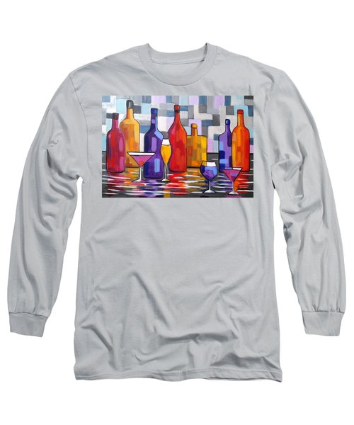 Bottle Of Wine Long Sleeve T-Shirt