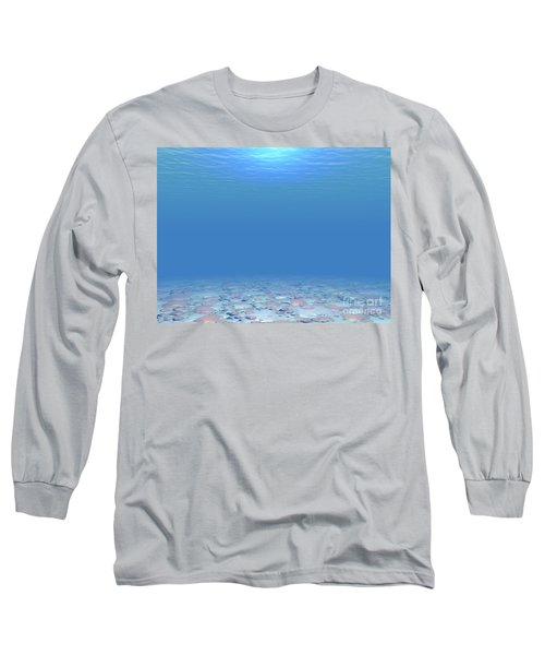 Long Sleeve T-Shirt featuring the digital art Bottom Of The Sea by Phil Perkins
